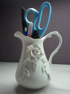 Pitcher Pencil Holder. Make a pencil holder out of something unexpected.