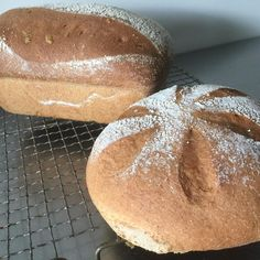 Lovely twosome wholemeal loaves #wholemealbread #microbakery #realbread #customers #happybaking
