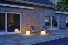 #buitenverlichting - Verlichte kubus TECC - LLDPE materiaal