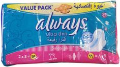 Always Pads Ultra Thin Long 16 Always Pads, Maxi Pads, Bath And Body, Health, Health Care, Salud