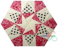 Portable Pink Pieced Hexagons – Part 2 on http://www.lindafranz.com/blog/portable-pink-pieced-hexagons-part-2/