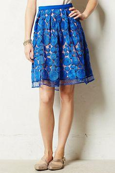 {albastru skirt in blue - anthropologie}