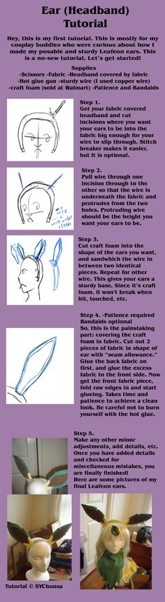 Ear Headband Tutorial by sychunsa on deviantART