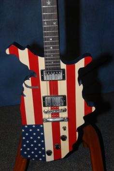 """2001 Gibson Custom Shop -=- """"The Map"""" Because the Whole Country Needs Music !!"""