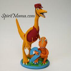 Dinosaur Train Birthday Cake Topper by SpiritMama, via Flickr