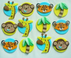12 Edible Fondant Fisher Price RAINFOREST by SugarKissCakeToppers, $24.00