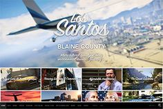 Grand Theft Auto's website takes a different approach to showcasing their title. Acting as more of a destination travel site, this video game design example showcases a grid of image content that showcases activities and locations.