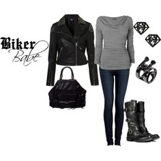 Biker Babe, created by westernglamour on Polyvore