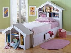 For Kids ~ dollhouse headboard and footboard