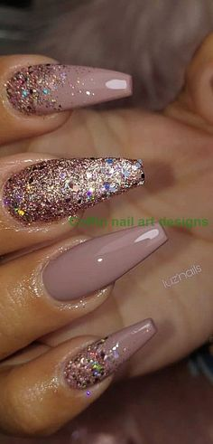 Top 100 Acrylnageldesigns vom Mai Page 6 24 Cute and Awesome Acrylic Nails. - New Ideas Black Nails With Glitter, Glitter Accent Nails, Matte Black Nails, Nail Art Designs, Ombre Nail Designs, Acrylic Nail Designs, Bridal Nail Art, Almond Nails Designs, Studded Nails