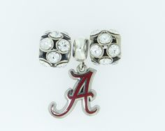 Sterling Silver, Hand Enameled, Officially Licensed Collegiate Product www.myteambracelet.com