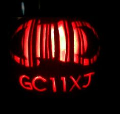 A combo of 2 things I love  Caching and Halloween  A Track-o-lantern? #geocaching