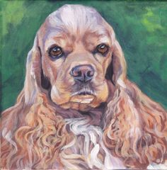 American Cocker Spaniel art print Canvas print of by TheDogLover, $19.99