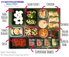 21 Day Fix Extreme Meal Plan - Hannah Rose Fitness