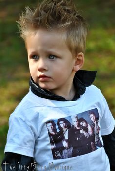 The Lost Boys  Toddler Tee $17.00, via Etsy.   The kid's eyes are freaky vampire like too lol