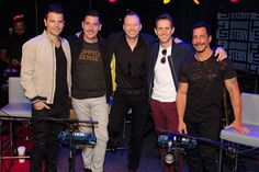 Jordan Knight, Jonathan Knight, Donnie Wahlberg, Joey McIntyre, and Danny Wood of New Kids on the Block