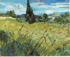 「麦畑」 1889  73.5 x 92.5 cm プラハ国立美術館、ハンガリー