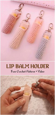 Easy Crochet Lip Balm HolderCrochet Pumpkin Pie Pot Holder Free PatternThe Learn to Crochet the Easy Way series is a…Learn how to crochet the Tunisian Crochet Simple… Crochet Simple, Cute Crochet, Crochet Hooks, Crotchet, Easy Things To Crochet, Crochet Key Chain, Diy Crochet Gifts, Crochet Projects To Sell, Crochet Storage