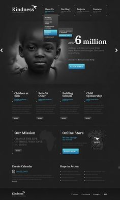 The Top 20 Charity WordPress Themes - Web Design Fanatic Website Design Inspiration, Website Design Layout, Web Layout, Website Designs, Website Ideas, Design Ideas, Template Web, Website Template, Wordpress Template