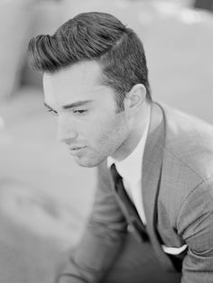 Sleek retro groom hairstyle #vintage #classic