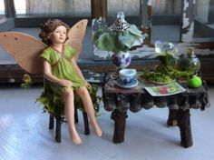 Fairy's Work by Olive Miniatures   Fairy by OliveNatureFolklore