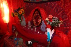 Red Tent Altar from the Red Tent Temple, Grafton, MA: https://www.facebook.com/groups/116446411737051/