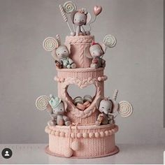 I am blown away by the cozy knitted texture of this cake from Kek Couture! I am blown away by the cozy knitted texture of this cake from Kek Couture! 😍 Which one of these adorable party elephan. Baby Cakes, Baby Birthday Cakes, Girl Cakes, Baby Shower Cakes, Cupcake Cakes, Pretty Cakes, Cute Cakes, Beautiful Cakes, Amazing Cakes