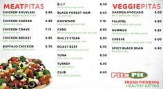 image about Pita Pit Printable Menu named 14 Least complicated Menu Mc sq., The Lazy Pupil pictures within 2013
