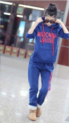 Korean Fashion Printed Women's Tracksuit