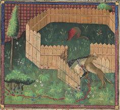 Titre : Gaston Phébus, Livre de la chasse. — Gace de la Buigne, Déduits de la chasse. Date d'édition : 1301-1500 Français 616 Folio 110v