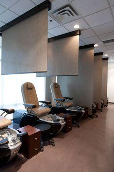 Pedicure Salon Decor Style New Ideas Nail Salon Design, Nail Salon Decor, Beauty Salon Decor, Beauty Salon Design, Beauty Salons, Hair Salon Interior, Home Salon, Spa Interior Design, Interior Design Living Room