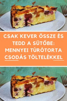 Good Food, Yummy Food, Tasty, Cake Recipes, Dessert Recipes, Low Calorie Desserts, Hungarian Recipes, Good Healthy Recipes, Cookie Desserts
