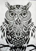 Ornate Owl Head by ~BioWorkZ on deviantART