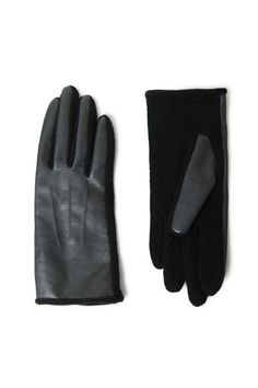 12 Winter Gloves To Keep Your Mitts Cozy  #refinery29  http://www.refinery29.com/mittens#slide-10  Zara Faux Leather and Knit Combination Gloves, $25.90, available at Zara.  ...