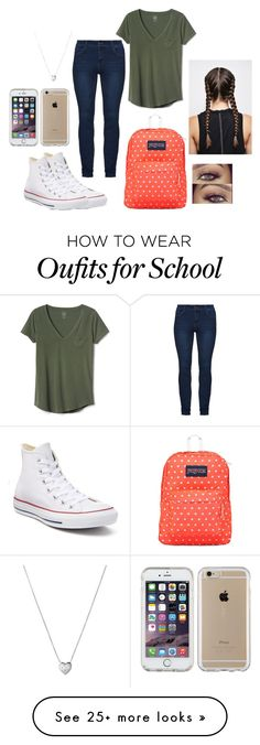 """""""Outfit for school"""" by stylelover-650 on Polyvore featuring Converse, Gap, Links of London, JanSport and Speck"""