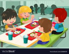 Buy Elementary Students Eating Lunch in Cafeteria by artisticco on GraphicRiver. A vector illustration of elementary students eating lunch in cafeteria. Vector illustration, zip archive contain eps . Imprimibles Toy Story, Diwali Drawing, Puppets For Kids, School Clipart, Vintage Logo Design, Children's Book Illustration, Cartoon Kids, School Design, Preschool Activities