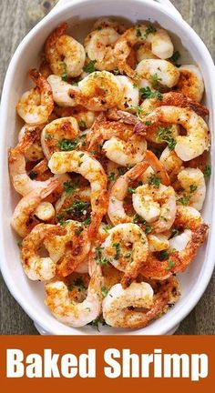 Healthy Meals A quick, tasty recipe for baked shrimp with butter, garlic and Parmesan. via - A quick, tasty recipe for baked shrimp with butter, garlic and Parmesan. Baked shrimp are the ultimate healthy fast food - they are ready in ten minutes! Fast Healthy Meals, Healthy Food Blogs, Healthy Recipes, Healthy Baking, Easy Meals, Dinner Healthy, Quick Recipes, Fennel Recipes, Vegetarische Rezepte