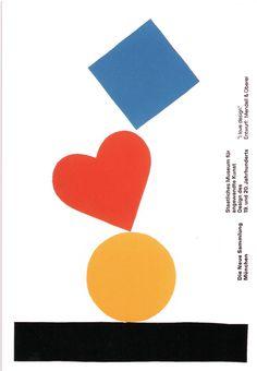 design-is-fine:   Pierre Mendell, poster I love design, 1991. Studio Mendell & Oberer, Munich. Die neue Sammlung, München.