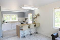 разный цвет стен кухня-гостиная