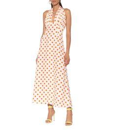 Emilia Wickstead Micaela polka-dot silk midi dress in Navy-Night Day Dresses, Dresses For Sale, Bridal Dresses, Summer Dresses, Silk Midi Dress, White Midi Dress, Polka Dot Print, Polka Dots, Midi Length Skirts