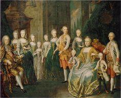Tea at Trianon: The Family of Francis I and Maria Theresa Roman History, Art History, Bourbon, Royal Family Trees, Frederick The Great, Maria Teresa, Francis I, Holy Roman Empire, Antique Paint