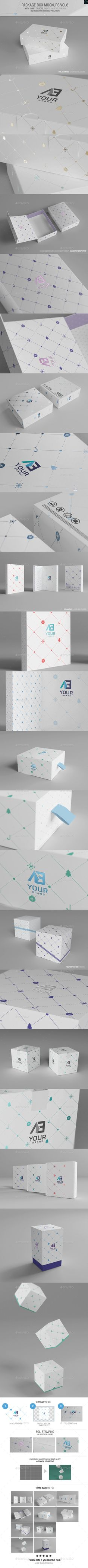 Package Box Mockups | Download: http://graphicriver.net/item/package-box-mockups-vol6/9533868?ref=ksioks