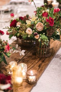 beautiful florals and romantic candlelight