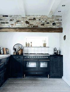 rustic kitchen, denmark. via planete deco.