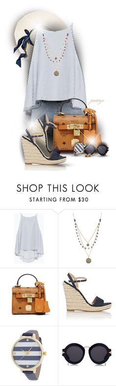 """Good Day, Sunshine"" by rockreborn ❤ liked on Polyvore featuring Zara, Ksubi, Alicia Marilyn Designs, MCM, Barneys New York, Karen Walker and Lucky Brand"