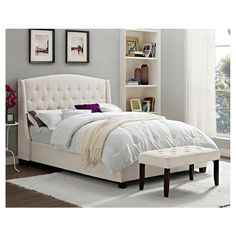 Roma Tufted Wingback Bed (Queen) - Dorel Asia : Target $400 - Master Bedroom