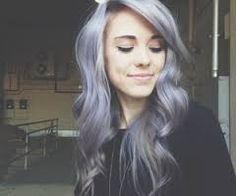 Lavender gray hair