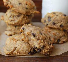 Paleo Banana Chocolate Chip Cookies - so yum