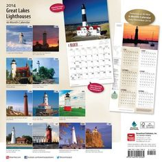 Great Lakes Lighthouses Calendar (Multilingual Edition)