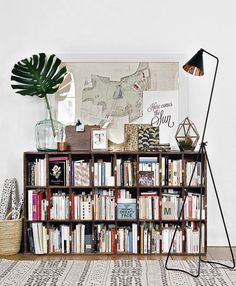 10 Bookshelves for the Home. Bookshelves are a great way to showcase the unique decor you love -- whether it's books or other collectibles from your travels, they're a fun way to show who you are. Pin to your own home decor board! Nachhaltiges Design, Deco Design, House Design, Design Ideas, Loft Design, Design Styles, Design Projects, Piece A Vivre, Home And Deco